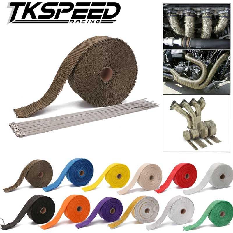 1.5 ミリメートル * 50 ミリメートル * 10 メートルオートバイエキゾースト熱ラップマニホールドターボシールド絶縁ロールテープバージンガラス繊維