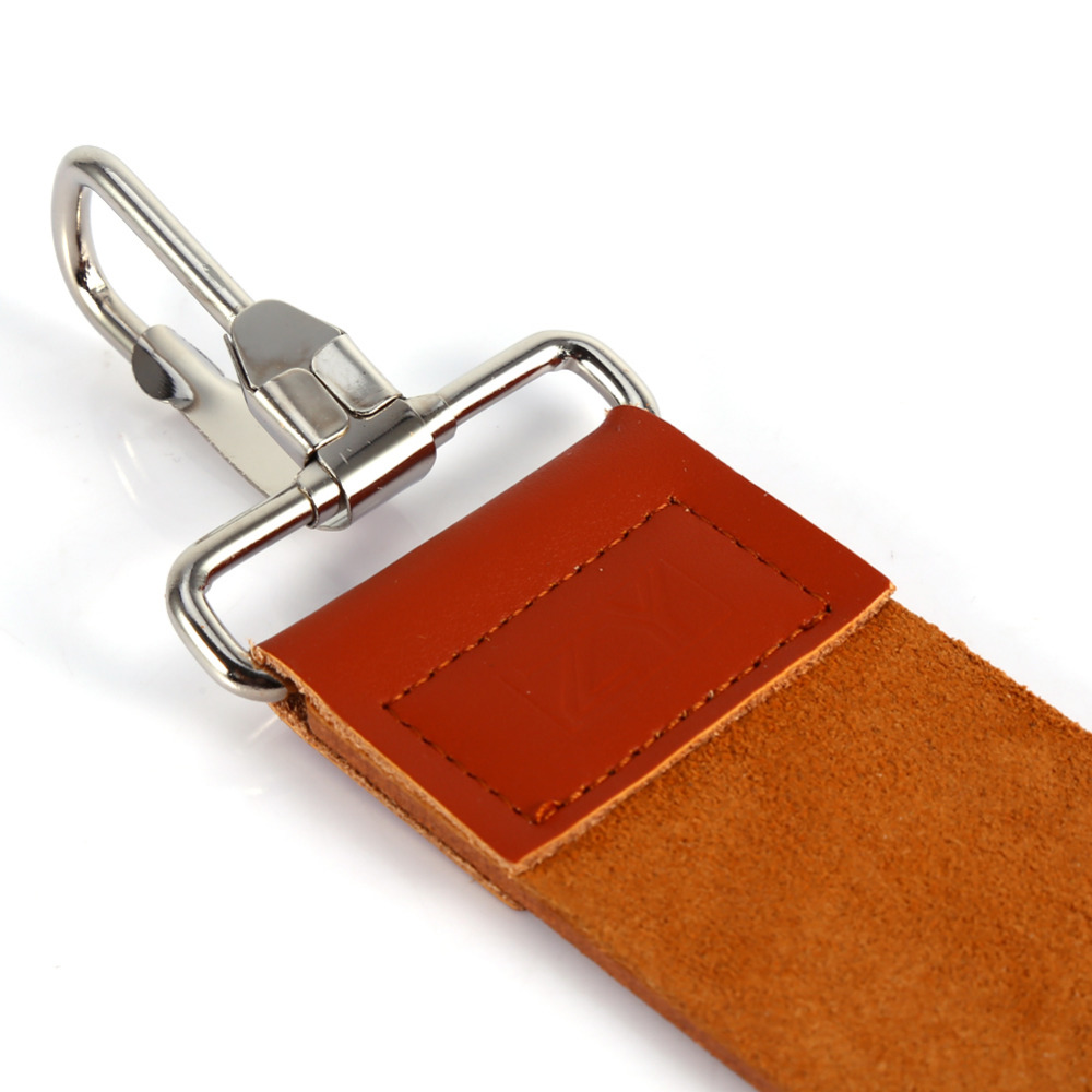Pro Barber Double-layer Genuine Leather Shaving Strop Straight Razor Sharpener Strap Belt Necessary Shaving Strap Tool 3