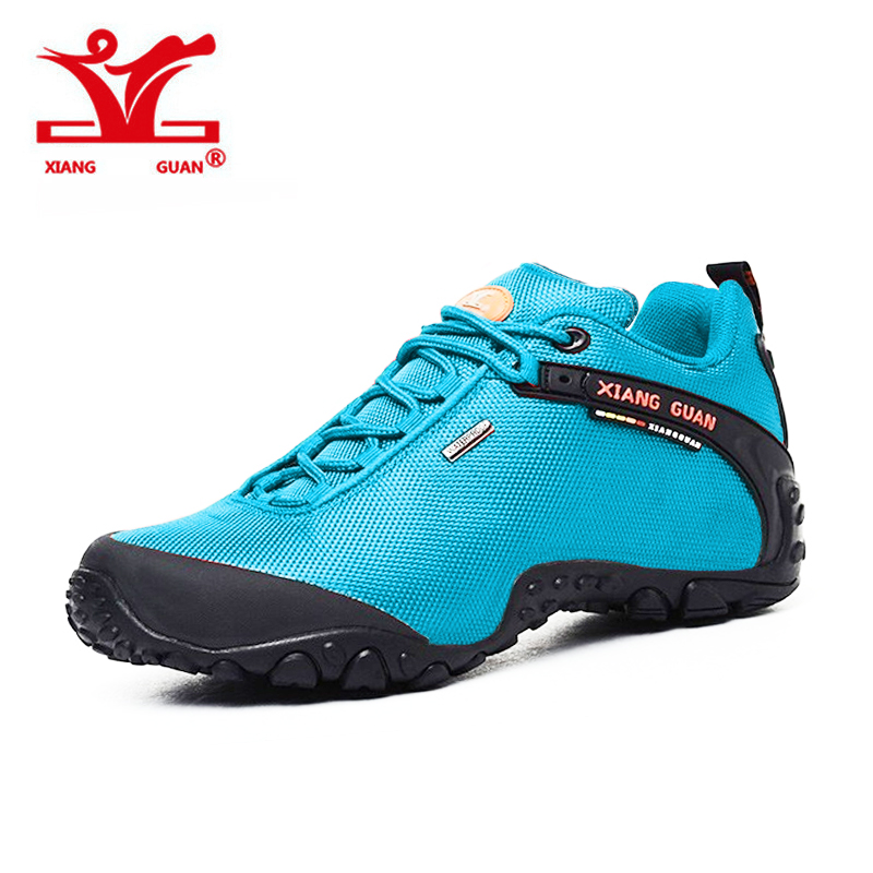 Women Sport Hiking Shoes Waterproof Climbing Mountaineer For Female Trekking Outdoor Walking Sneakers Slip Resistant XIANGGUAN 2016 man women s brand hiking shoes climbing outdoor waterproof river trekking shoes