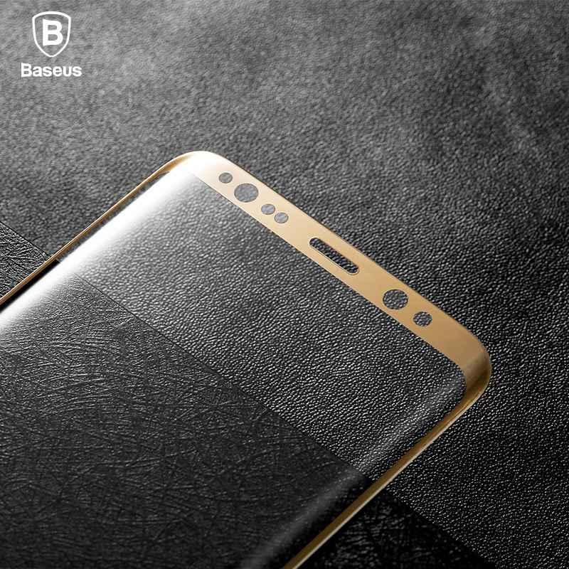 imágenes para Baseus 3d arco edge 0.3mm templado protector de pantalla de cristal para samsung galaxy s8 plus y s8 seda película de pantalla completa rodeada llanta