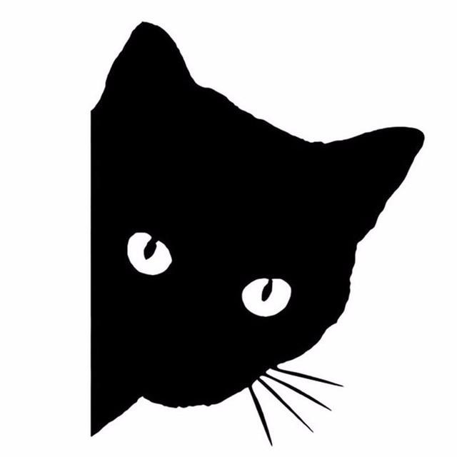1pcs car stylings cat head car sticker funny 12cm 15cm car full body decals car