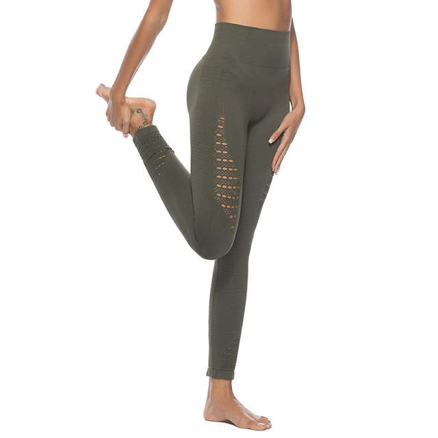 a526d75c058c92 Leggings Compression Pants Jogger Women Fitness Super Stretchy Exercise  Pants Trousers Leggings Seamless Tummy Control