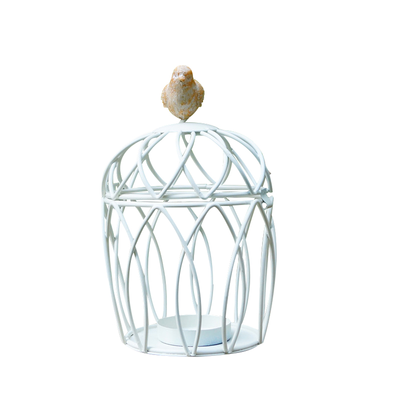 Creative Candelabros Hollow Hanging Bird Cage Candle Holder Candlestick Lantern Bridal Decor Vintage Candlesticks Home Decor