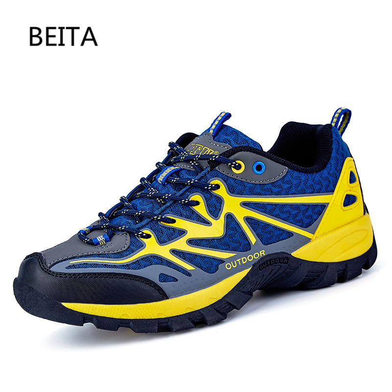 2017 Men Mountain Hiking Shoes Big Size Leather Hunting Boots Autumn Winter Mens Outdoor Sport Shoes Plus Size Climbing Sneakers 2017 autumn winter mens hiking trainers rubber outdoor men shoes lace up outdoor man sneakers wearable high mountain boots