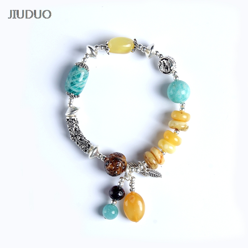 JIUDUO jewelry Genuine luxury Bracelet Amber Hand with Certificate Natural Blood Perfection DIY Men and Women Blood Park Chain
