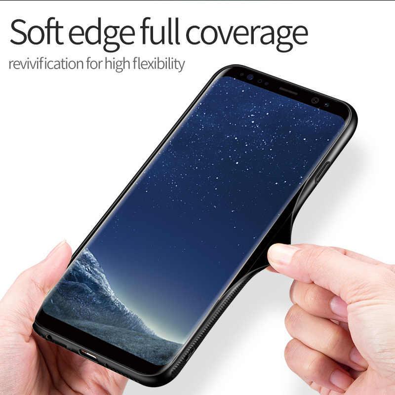 Venmon Endgame Nhân Vật Phản Diện Đèn Ngủ Dạ Quang Phát Sáng Miếng Kính Cường Lực Cho Samsung Galaxy S8 S9 S10 Plus NOTE8 9 10 Plus marvel Panther CapA