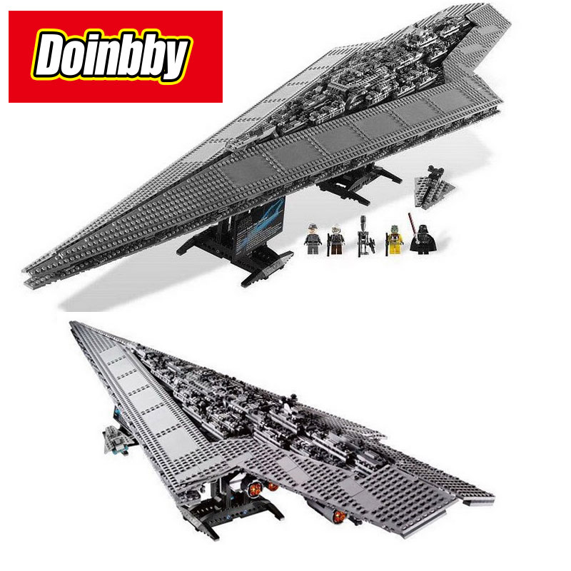 Execytor Super Star Destroyer Model Building Block Bricks Toys Compatible with Legoings Star Wars 10221 super star 3