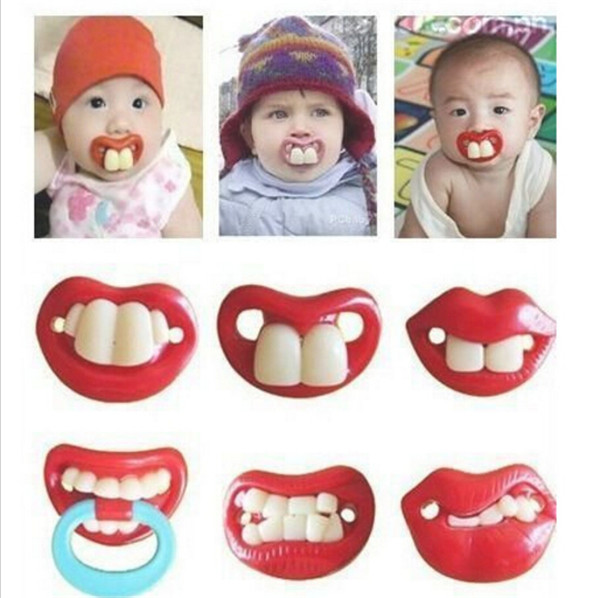 2016 New Silicone Baby Funny Nipple Dummy Baby Soother Lovely Lips Toddler Pacy Orthodontic Nipples Teether Baby Pacifier Care
