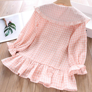 Image 4 - Humor Bear 2019 Children Clothes Spring & Autum Girls Dress Brand New Plaid Doll Collar Long Full Sleeves Princess Party Dress