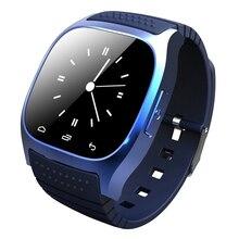 Bluetooth smart watch reloj smartwatch con dial sms recuerdan podómetro reproductor de música llamada respuesta para android ios smartphones