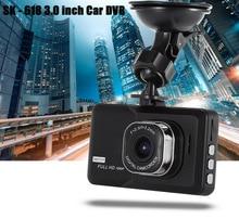 """3.0 """"Автомобильный видеорегистратор Камера рекордер автомобиля видеокамера DVR 1080 P Full HD видеорегистратор регистратор g-сенсор generalplus регистраторы dashcam"""