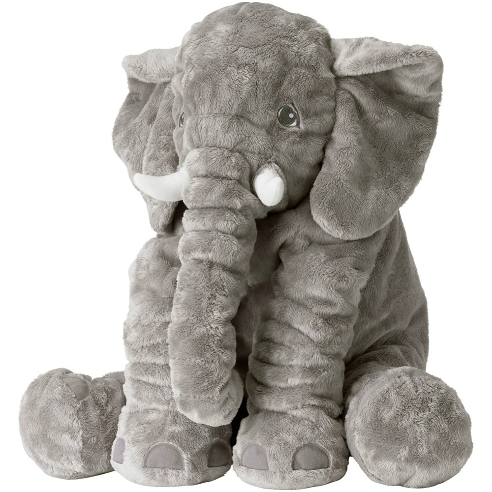 Cartoon 40cm Large Plush Elephant Toy Kids Sleeping Back Cushion stuffed Pillow Elephant Doll Baby Doll Birthday Gift for Kids meifeier 407 women s fashionable knitted chiffon blouse apricot l
