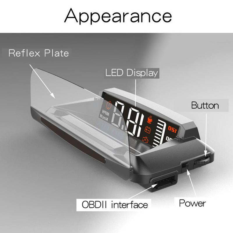 ActiSafety Universal Car High Brightness Automatic Light Sensitive Folding Head Up Display LED HD Projector Driving Computer