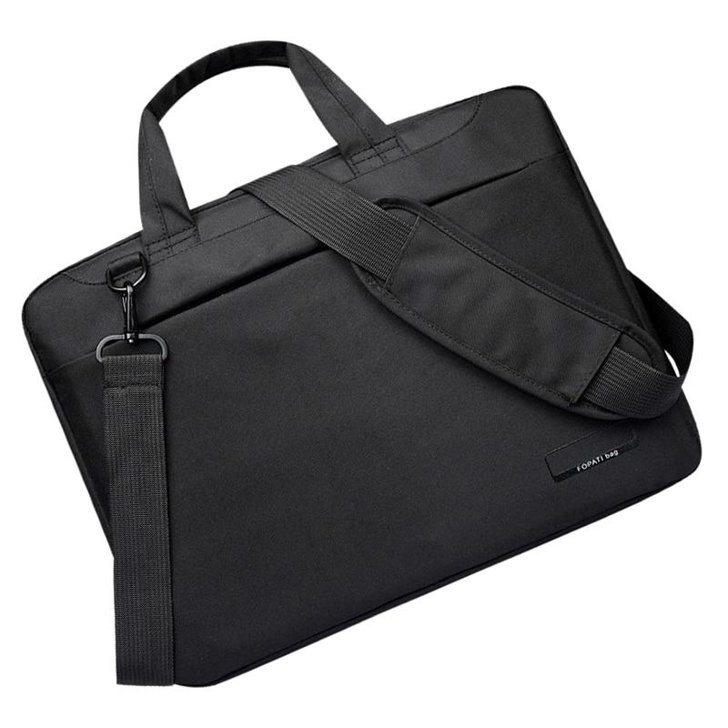 bd074135253 Laptop bag case 12 14 15 17 inch Nylon airbag shoulder handbag ...