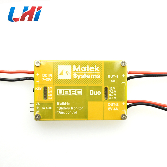 U4A2P UBEC Power Module Dual-way 4A 5~12V 4A 5V Build-in Battery Monitor Aux Control For FPV RC Quadcopter Multicopter