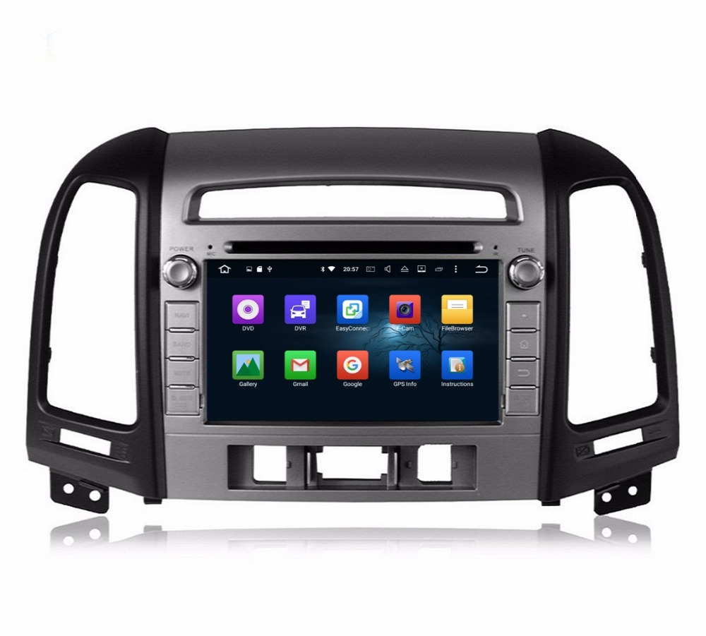 2 din 7″ Octa Core Android 6.0 Car DVD Player for Hyundai SANTA FE 2006-2011 2012 With 2GB RAM Radio GPS WIFI Bluetooth USB DVR