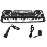 Baby Musical Toys Multi function 61 Keys Keyboard Electronic Organ with Microphone Music Instruments Educational Brain Gifts