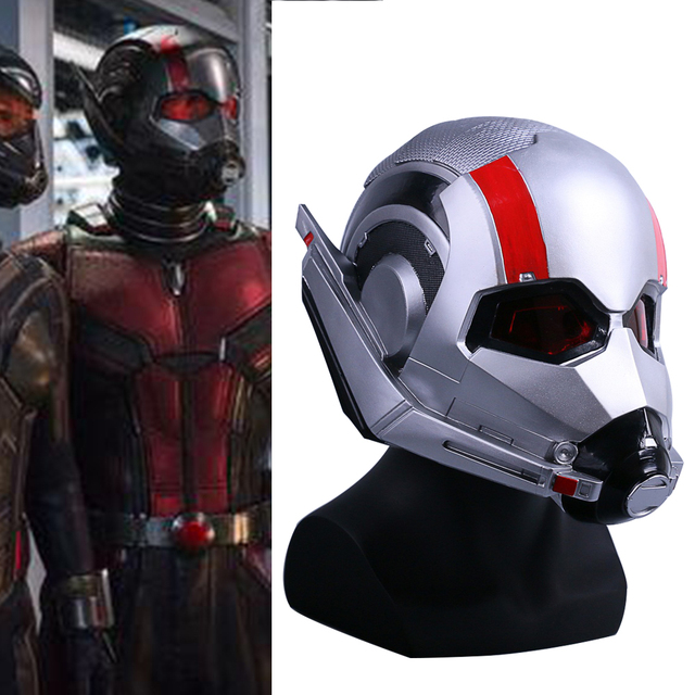 Movie Ant-Man and the Wasp Mask Cosplay Antman PVC Helmet Scott Edward  Helmets Masks New Halloween Party prop d5e7de676dc5