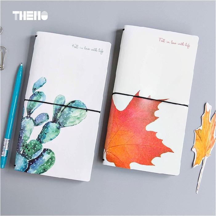 4 styly japonský kreativní květina Maple Leaf DIY Notebook kůže - Bloky a záznamní knihy - Fotografie 3