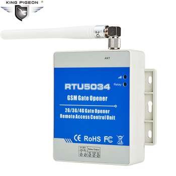 GSM 게이트 오프너 액세스 릴레이 스위치 원격 제어 무료 통화 홈 경보 시스템 보안 자동 도어 오프너 RTU5034