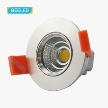 Dimmable LED COB Downlight 3W Aluminum Sand Silver