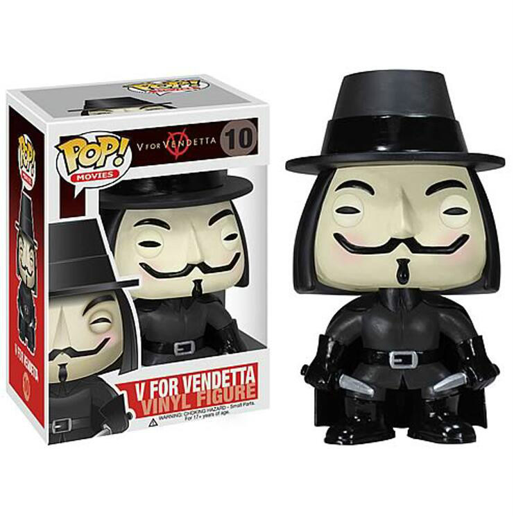 Funko POP V For Vendetta Collectible Model Kids Toys PVC 2019 Action Figure Boy Toys For Chlidren Birthday GiftFunko POP V For Vendetta Collectible Model Kids Toys PVC 2019 Action Figure Boy Toys For Chlidren Birthday Gift