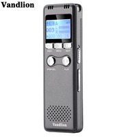 Vandlion V30 Gray Digital Voice Recorder 8G 16G Voice Activated Recording Portable Recorder With Hifi MP3 Player USB Flash Drive
