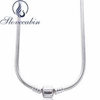 Slovecabin Original 925 Sterling Silver Clasp Pendants Necklaces Femme Vintage Classic 925 Silver Choker Necklace For Women