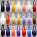 100 См Harajuku Аниме Косплей Парики Молодая Длинные Прямые Синтетический Парик волос Челки Блондинка Костюм Парики Партии Для Женщин 22 цвета