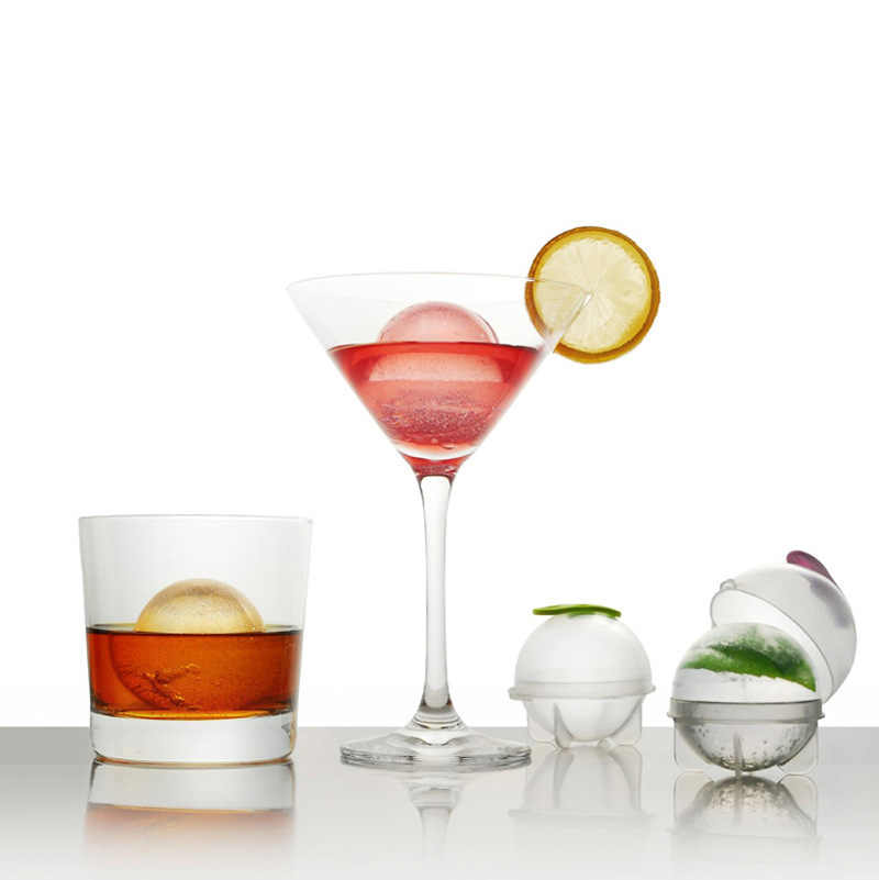Big Size 5cm Ball Ice Molds Home Bar Party Cocktail Use Sphere Round Ball Ice Cube Makers Kitchen DIY Ice Cream Moulds