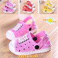 HOT NEW Children Beach Slippers Kids Girls Shoes Unisex Boys Girls Sandals Garden clogs drag pink-red free shipping 1-5age NM-22