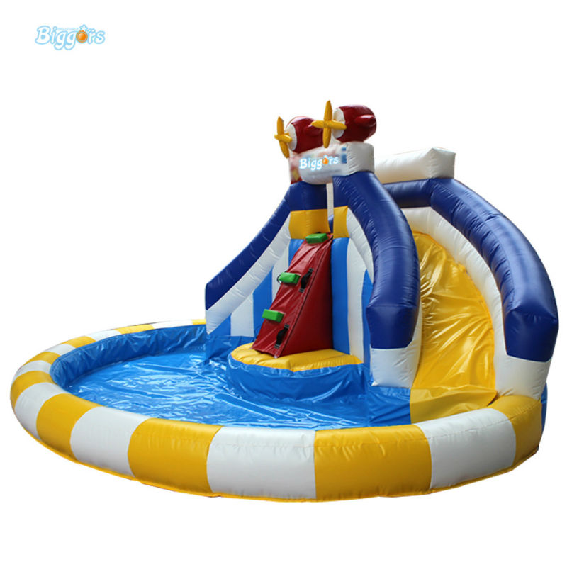 Inflatable Biggors Combo Slide And Pool Outdoor Inflatable Pool Slide For Kids Playing popular best quality large inflatable water slide with pool for kids