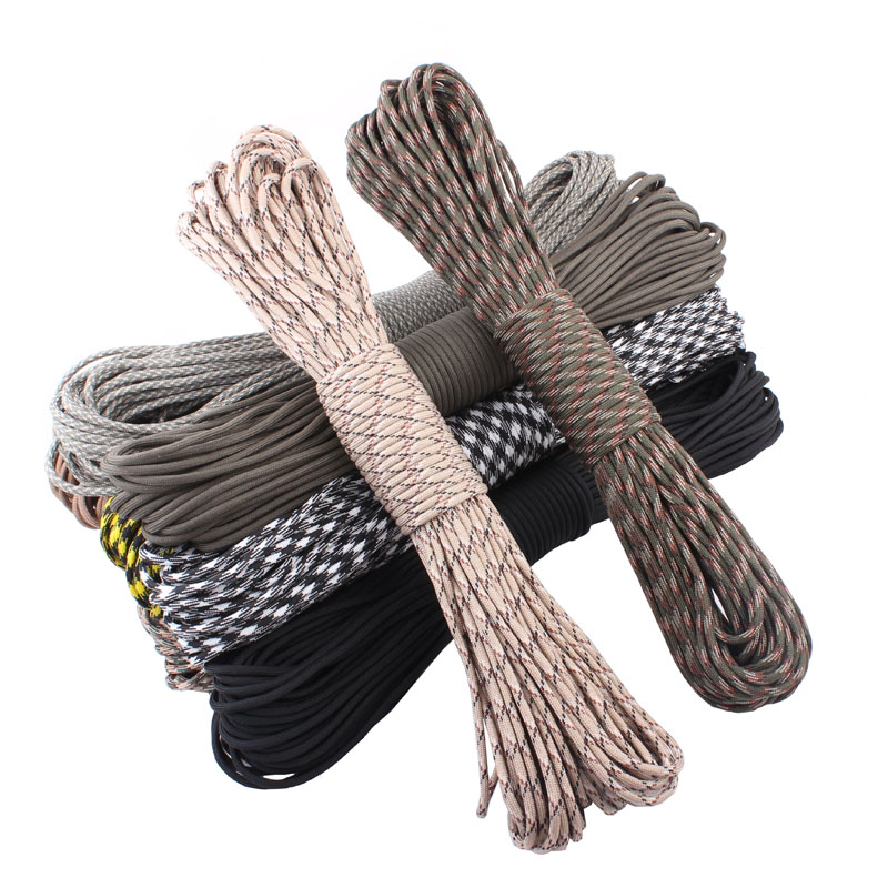 25ft New Paracord 550 Paracord Parachute Cord Lanyard Rope Mil Spec Type III 7 Strand Climbing Camping survival equipment
