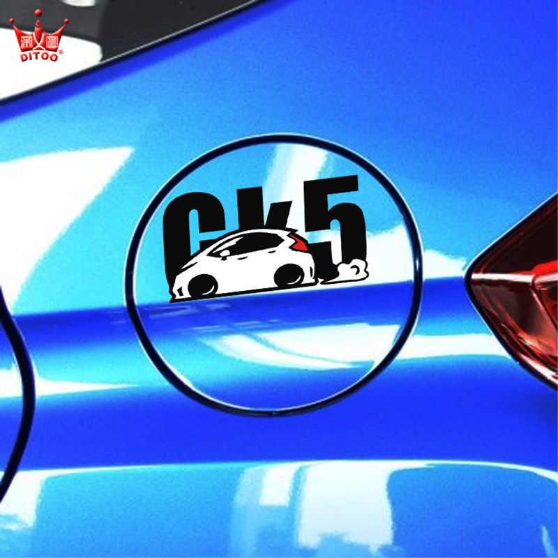 רכב סטיילינג מדבקת מכסה מיכל דלק להונדה FIT GK5, מדבקות לרכב עמיד למים ויניל לחתוך למות וקישוט, תיקון סריטות רעיוני