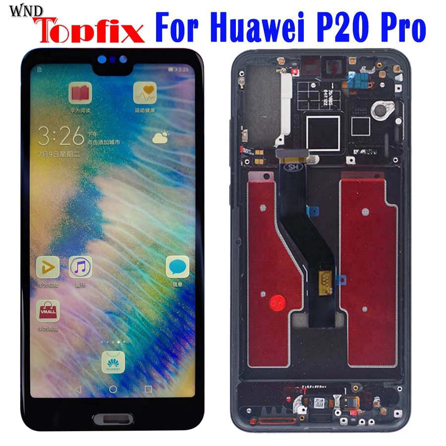 TFT For Huawei P20 Pro LCD Display Touch Screen Digitizer Assembly P20 Pro Display With Frame 6.1