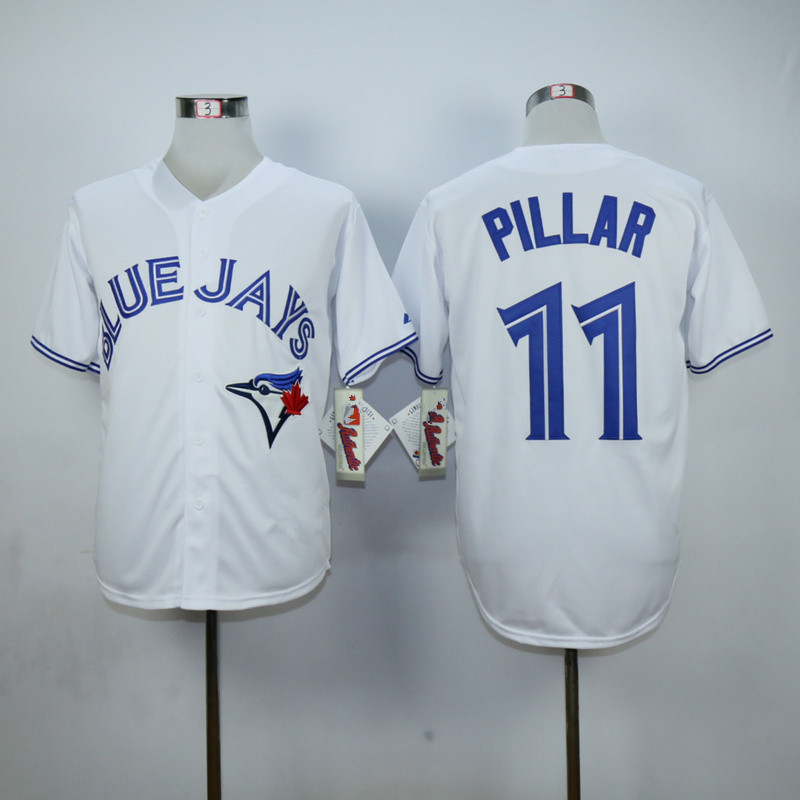 16b0d24c3c4 Kevin Pillar Jersey Authentic Home Blue White Toronto Blue Jays 11  Uniforms-in  Baseball Jerseys from Sports   Entertainment on Aliexpress.com