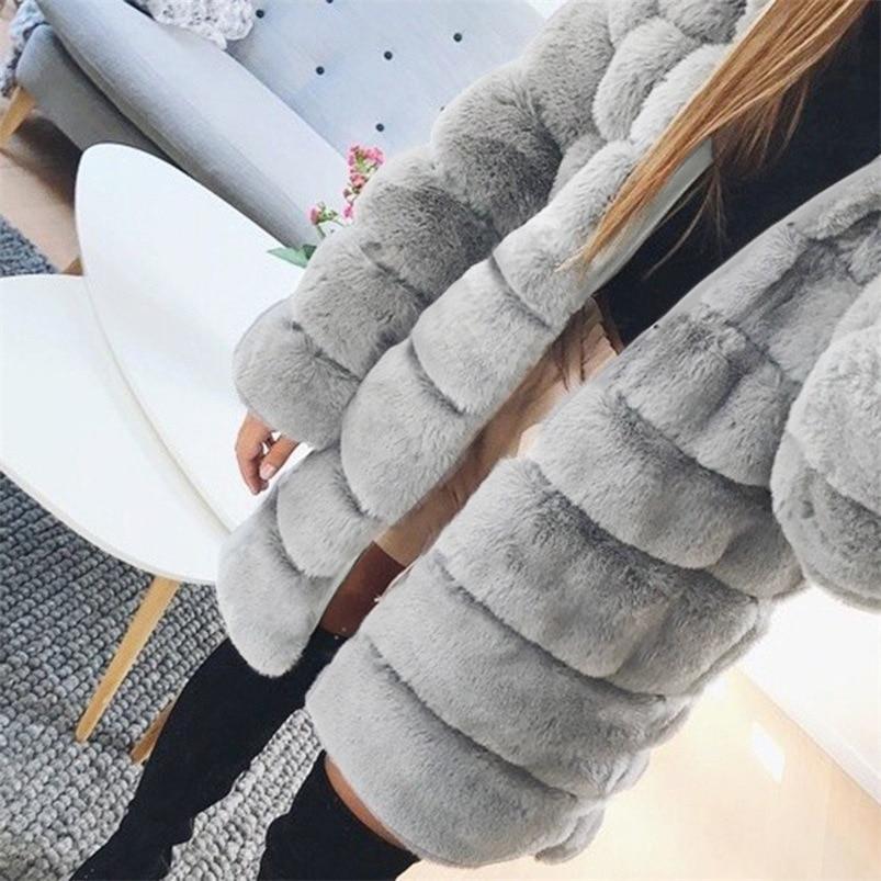Zipper Winter Coat Women 2018 Sleeveless Fur Cashmere Hoodie Coat Girl Warm Pullover Thick Coat femenino #N28 (11)