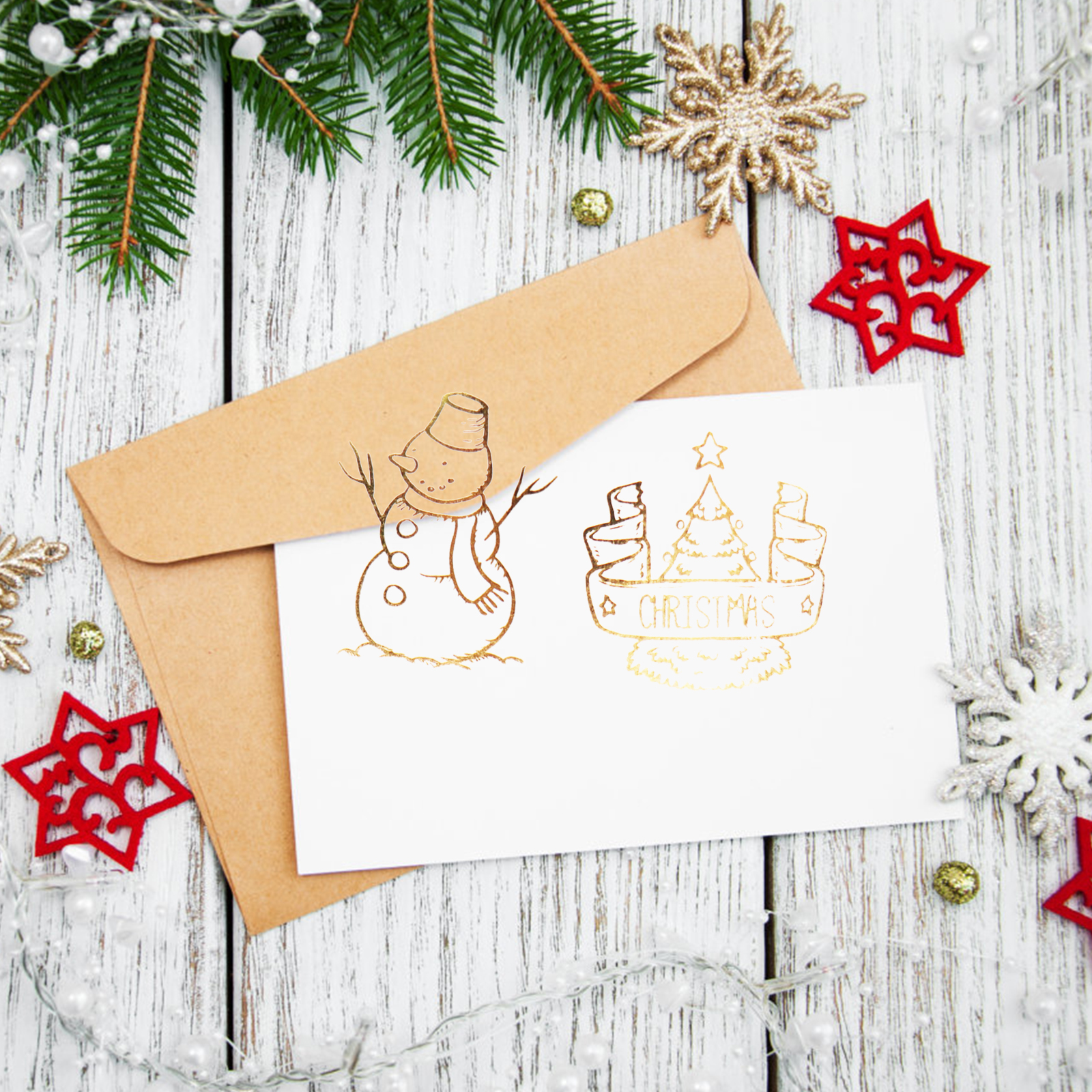 Hot Sale New 3d Hot Santa Claus Stickers Stamping Sticker Gold Rose