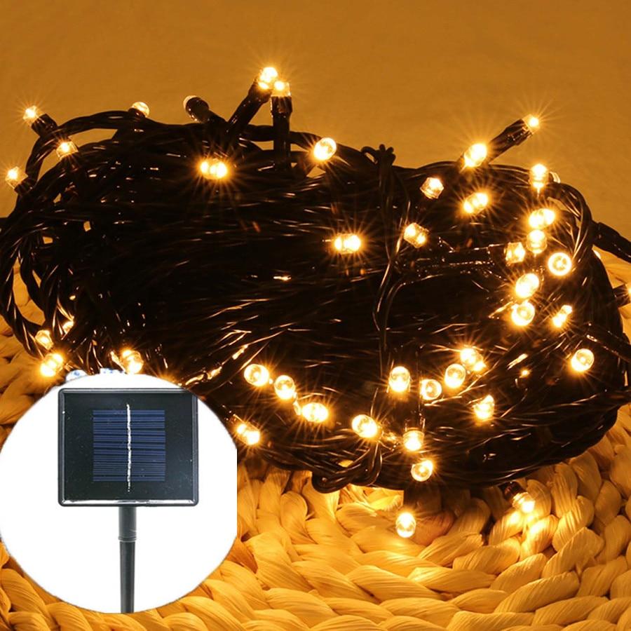 BEIAIDI 52M 500Led Solar Led string Fairy Light Solar Powered String Light Outdoor Fairy Light For Christmas Wedding Party Decor solar powered 0 64w 10lm 200 led blue light garden christmas party string fairy light blue 20 5m