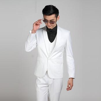 (Jacket + Pants) Fashion Men Business Suits Slim Men's Suits Brand Clothing Wedding Suits For Men Latest Coat Pant Designs 2