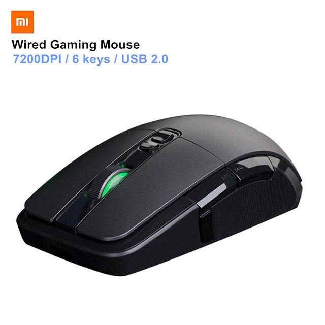 Original Xiaomi souris sans fil jeu USB 2.4 GHz 7200 DPI RGB rétro-éclairage souris Gamer optique Rechargeable ordinateur