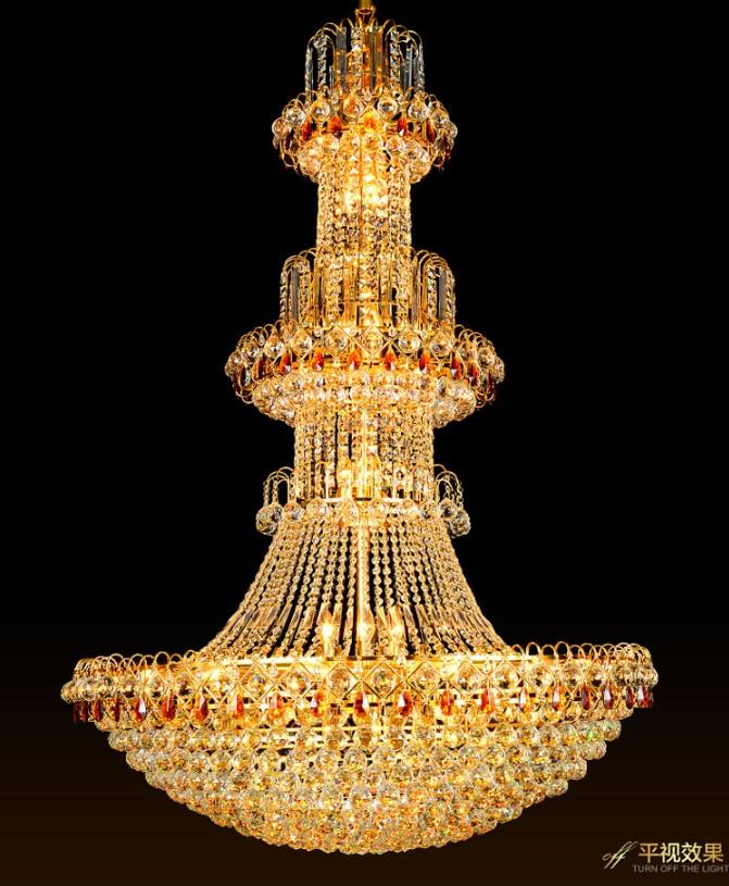 Qızıl Kristal Çilçıraq LED lampa Müasir Kristal Çilçıraqlar - Daxili işıqlandırma - Fotoqrafiya 4