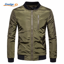 Covrlge Casual Mens Jacket Spring Army Military Men Coats Winter Male Outerwear Autumn Overcoat Green MWJ131