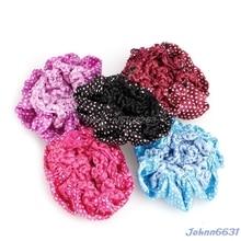 Hair Accessories Women Bun Cover Snood Hair Net Ballet Dance Skating Crochet Decor Lovely Hairdressing Tool #Y207E# Hot Sale