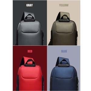 Image 5 - OZUKO Fashion Messenger Shoulder Bag Anti theft USB Charging Chest Pack Crossbody Bags for Men Sling Bag Fashion Phone Bags