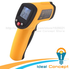 Wholesale prices Non-Contact 12:1 DS IR Laser Infrared Industrial Digital Thermometer + Laser Target Pointer -50~380 Celsius Degree