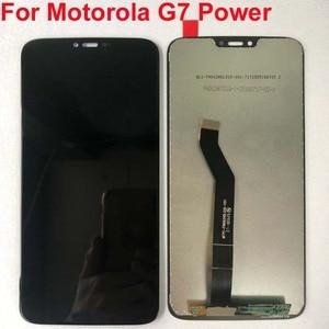 Image 2 - 100% Original TEST For Motorola Moto G7 Power LCD Display Touch screen sensor Panel Digiziter assembly 6.2 For Moto G7power
