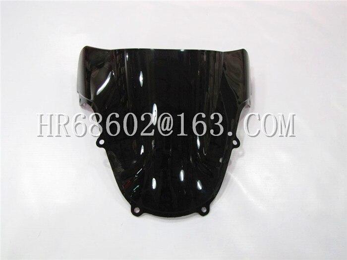 For Suzuki GSXR 1000 600 750 R K1 K2 gsxr 600 750 1000 R k1 k2 2000 2001 2002 00 01 02 Black Windshield WindScreen Double Bubble