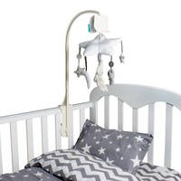 Baby Bed Accessories Crib Musical Mobile Cot Bell Music Box With Holder Arm Baby Bed Hanging