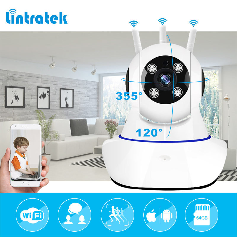 купить lintratek Wireless Surveillance PTZ Camera HD 720P mini CCTV IP Camera wifi Home Security Baby Camera Baby Monitor IP Cam wi-fi